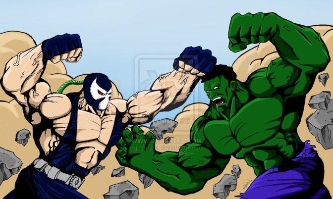 Marvel vs. DC: Incredible Hulk Battles Bane