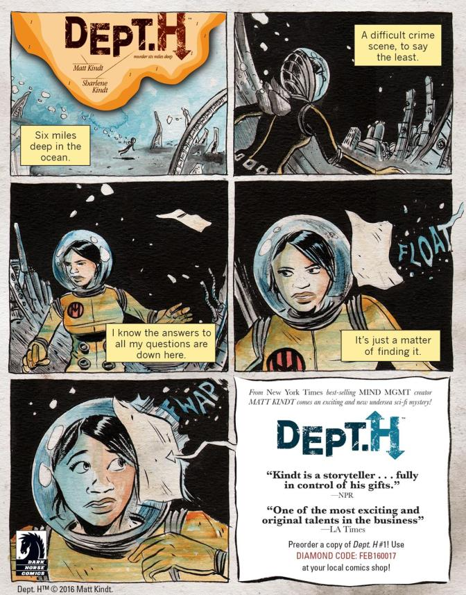 Dark Horse Delivers a Beautiful Aquatic Mystery in 'Dept. H #1' Review